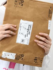[R] Rowky paper post clutch bag 1pcs