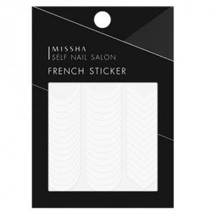 Missha Self Nail Salon French Sticker 1ea