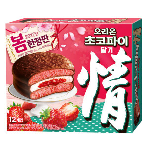 [R] Orion Choco-pie Strawberry 12pcs