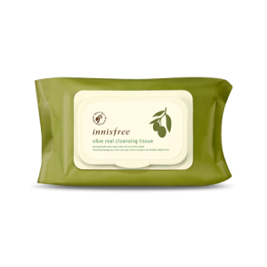 Innisfree Olive Real Cleansing Tissue [Large] 80 sheet