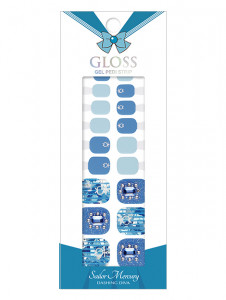 Dashing Diva [Sailor Moon] Premium Gloss Pedi Strip - Sailor Mercury