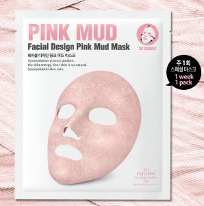 SO NATURAL Facial Desingn Pink Mud Mask 1pcs/14g