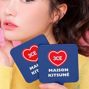 [R] 3CE Maison Kitsune Square Mini Hand Mirror 1ea